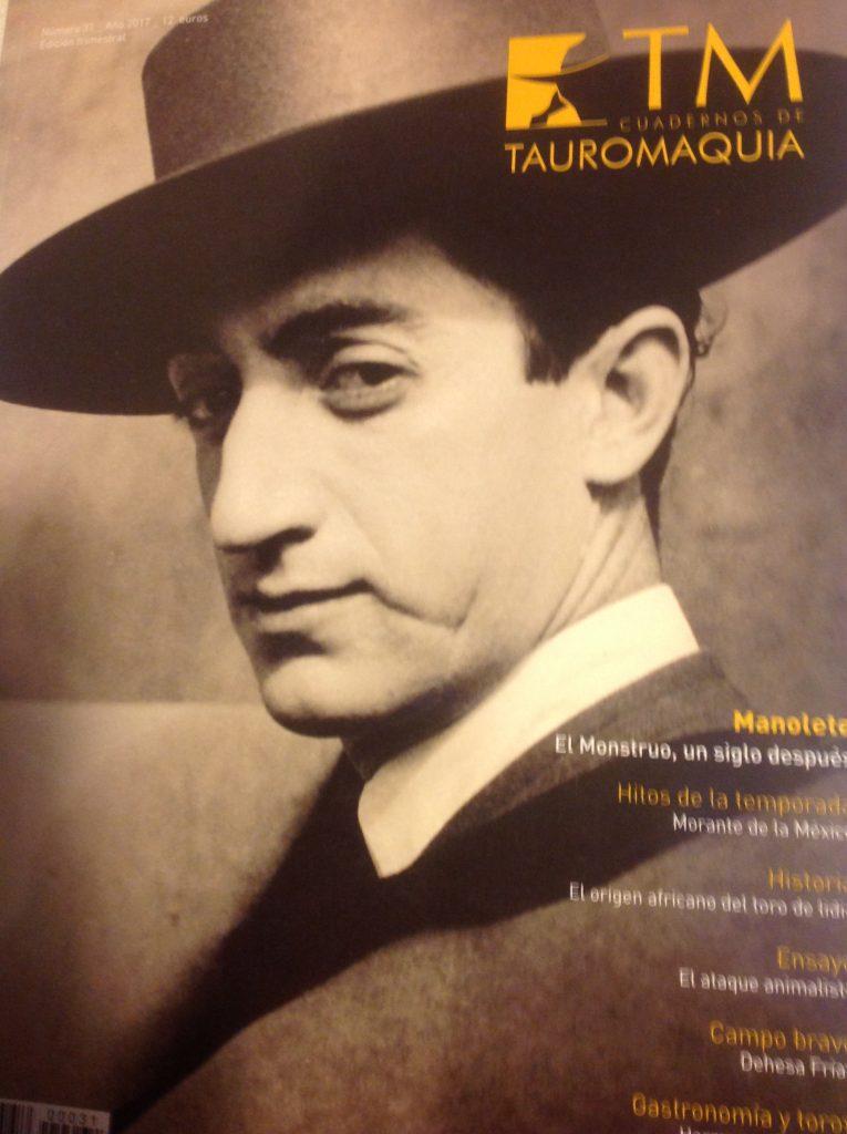 """Le dernier numéro de """"Cuaderno de Tauromaquia"""", la remarquable revue d'Alvaro Acevedo..."""