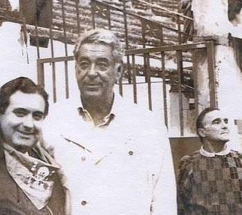 Manolo Chopera, dans le callejon des arènes de Logroño